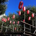 2012年東中野みどり公園盆踊りやぐら