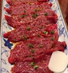 東中野・慶州の和牛ロースの炙り