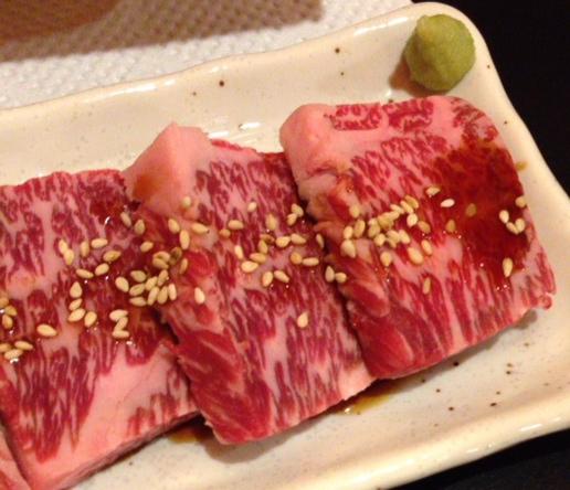 落合駅近くの焼肉・カランコロン東京のカルビ