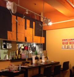 落合駅近くの焼肉・カランコロン東京のカウンター席