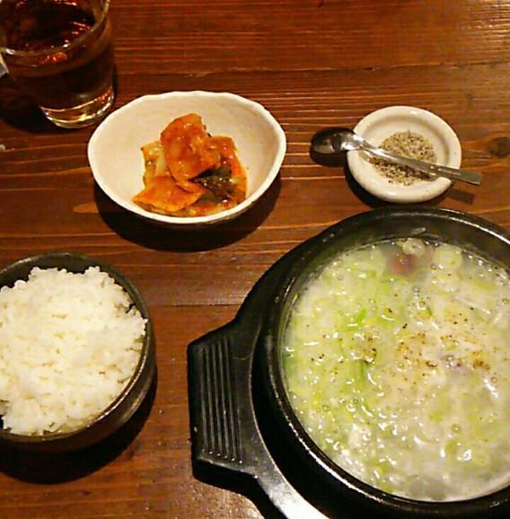 東中野1丁目の韓国料理店びみ亭のソルロンタンセット