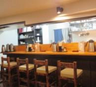 東中野5丁目「つけ麺 しろぼし」のカウンタ席