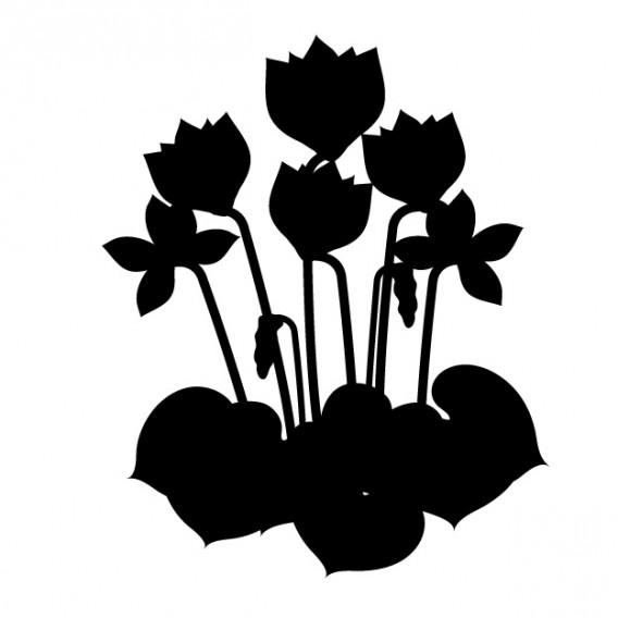 花のシルエットイメージ