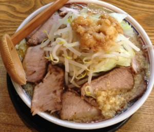 東中野4丁目・燿G麺系ガッツリらーめんチャーシュートッピング