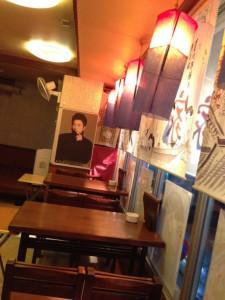 東中野5丁目民俗村のテーブル席