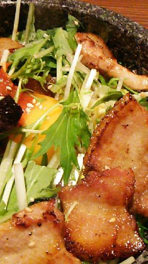 東中野1丁目の韓国料理店びみ亭のサムギョプサル石焼ビビンバ