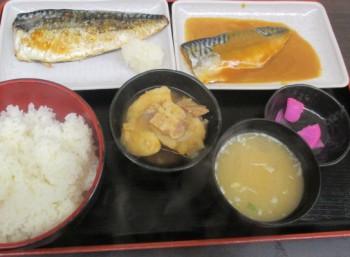 高円寺北口のキッチンポパイの特盛定食~焼きさば、サバ味噌、肉じゃが