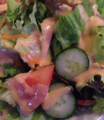 東中野3丁目キッチンドナルドのサラダ