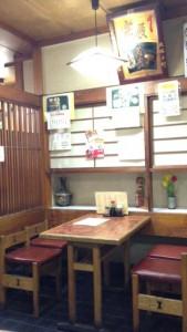 高円寺の和風食事処 赤城屋の客席
