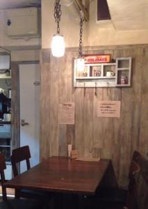 東中野4丁目のカフェ&ダイニング「カーニャパッソ」の客席