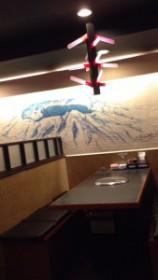新大久保の延辺料理金達莱のテーブル席