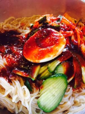東中野4丁目の漢江のビビン冷麺