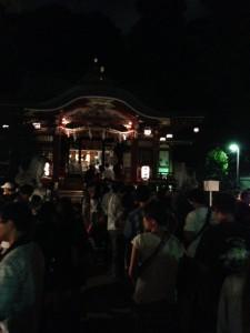 氷川神社2014年秋の祭礼の境内
