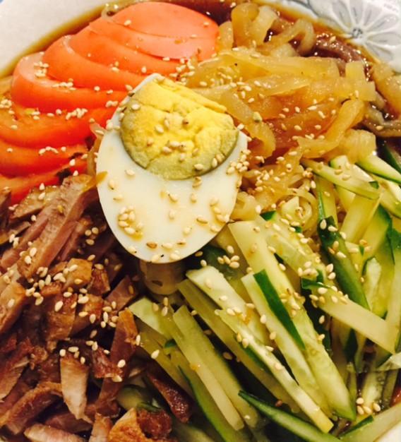 高円寺南口の四川料理豆の家の冷やし中華
