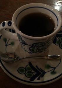 高円寺ルック商店街の喫茶店『七ツ森』のコーヒーフレンチロースト