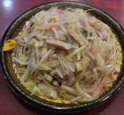 北新宿百人町交差点そばの中華料理まるしんの皿うどん