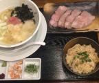東中野2丁目のラーメン店「海阪屋」の海坂そばセット